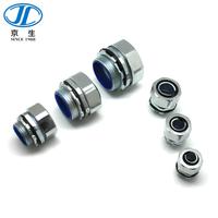 DPJ金屬端式接頭 金屬軟管外螺紋箱接頭 包塑金屬軟管外絲盒接頭