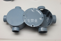 86型鋁合金防爆司令箱 電纜分線盒 防水圓筒接線盒 三通接頭盒